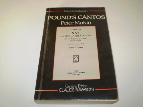 """9780048110022: Pound's """"Cantos"""" (Unwin Critical Library)"""