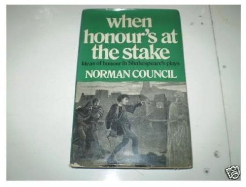 9780048200136: When Honour's at the Stake