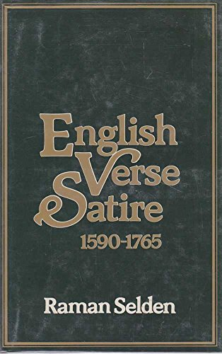 9780048270160: English Verse Satire, 1590-1765
