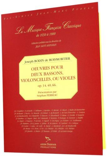 9780049057661: Oeuvres pour 2 bassons, ou 2 violoncelles, ou 2 violes
