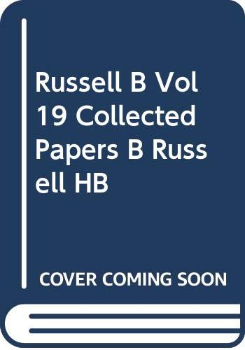 9780049200852: Collected Papers of Bertrand Russell, Volume 19