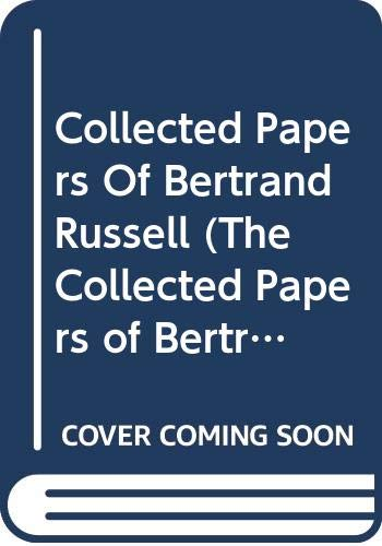 9780049200944: Collected Papers of Bertrand Russell, Volume 28