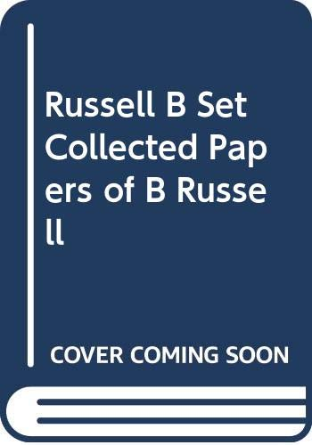 9780049200951: Russell B Set Collected Papers of B Russell