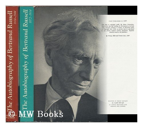 9780049210035: Autobiography B Russell Vol 1