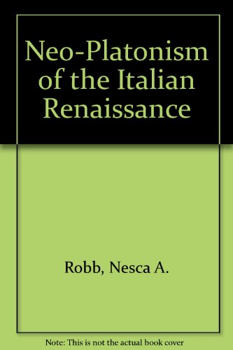 9780049400269: Neo-Platonism of the Italian Renaissance