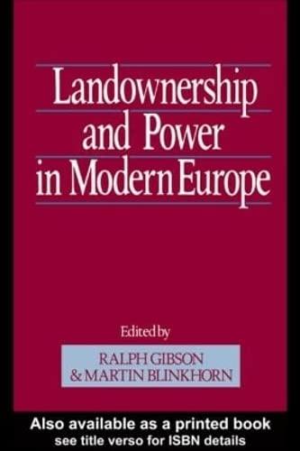 9780049400917: Landownership and Power in Modern Europe