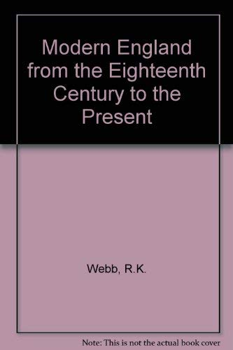 9780049420786: Modern England from the Eighteenth Century to the Present