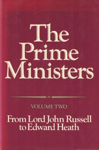 9780049421349: Prime Ministers: From Lord John Russell to Edward Heath v. 2