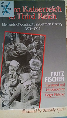 9780049430440: From Kaiserreich to Third Reich: Elements of Continuity in German History, 1871-1945