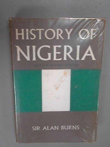 History of Nigeria: Burns, Alan