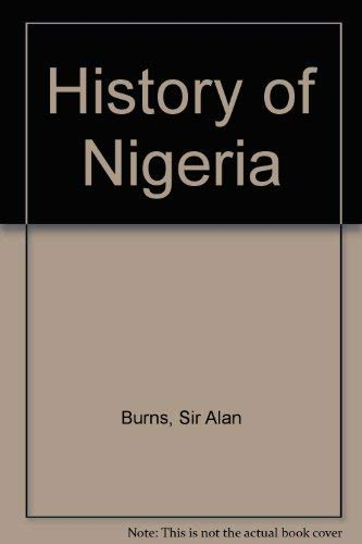 9780049660144: History of Nigeria