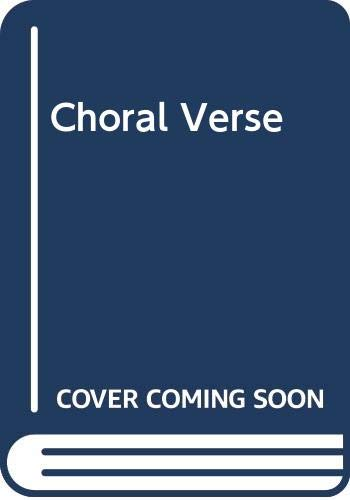 9780050001646: Choral Verse