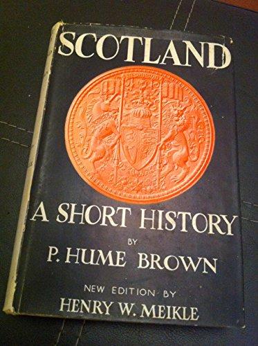 9780050009598: Short History of Scotland