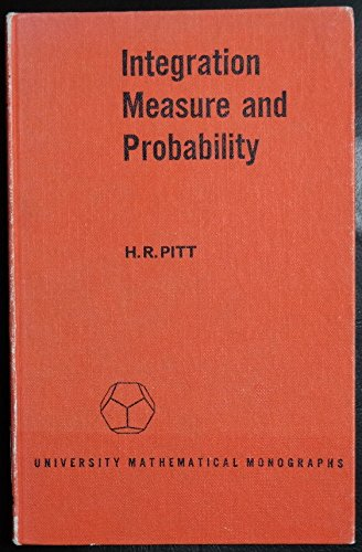 9780050012932: Integration, Measure and Probability