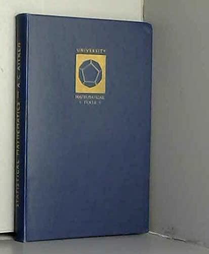 9780050013007: Statistical Mathematics (University Mathematical Texts)