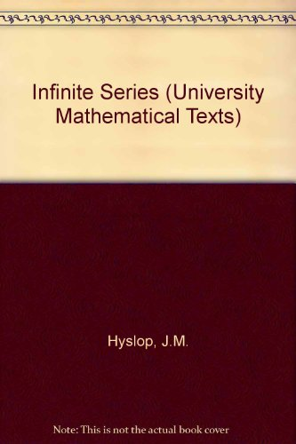 9780050013151: Infinite Series (University Mathematical Texts)