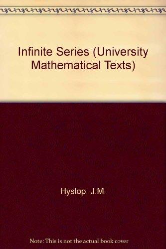 9780050013151: Infinite Series (University Mathematical Texts)
