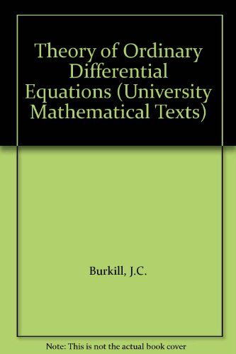 9780050013380: Theory of Ordinary Differential Equations (University Mathematical Texts)