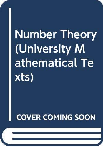 9780050013502: Number Theory (University Mathematical Texts)