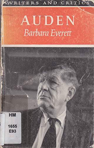 9780050014325: Auden (Writers & Critics S.)