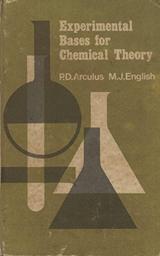 9780050015179: Experimental Bases for Chemical Theory