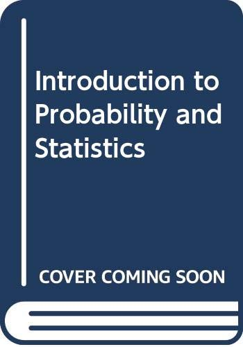 9780050015483: Introduction to Probability and Statistics (School and college mathematical texts)
