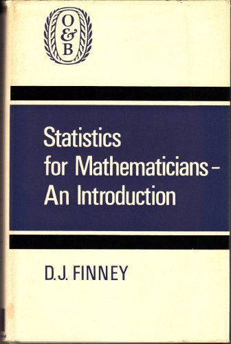 9780050016107: Statistics for Mathematicians: Introduction