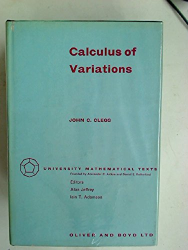 9780050016213: Calculus of variations (University mathematical texts)