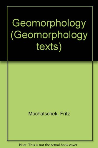 Geomorphology: Machatschek, Fritz