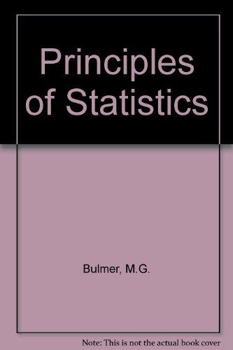 9780050017395: Principles of Statistics