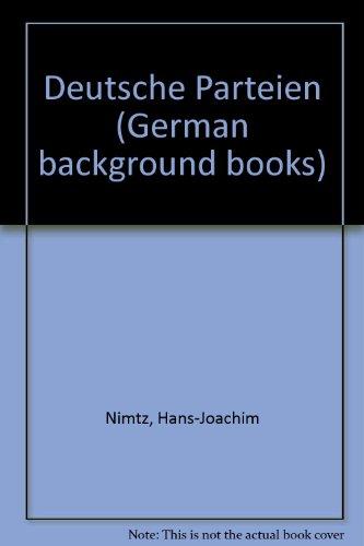 9780050020913: Deutsche Parteien (German background books) (German Edition)
