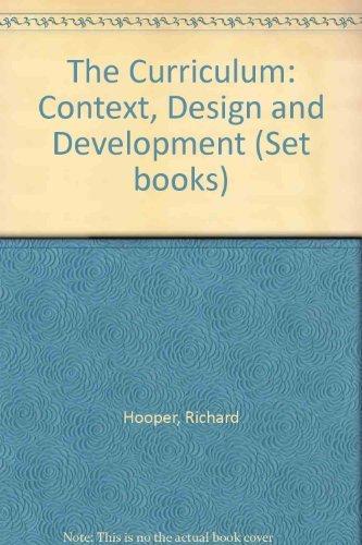 9780050024645: The Curriculum: Context, Design and Development (Set books)