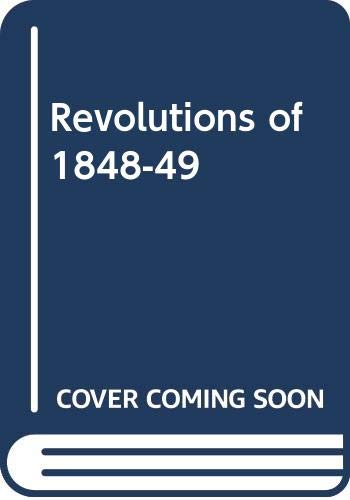 9780050025376: Revolutions of 1848-49 (Evidence and commentary)