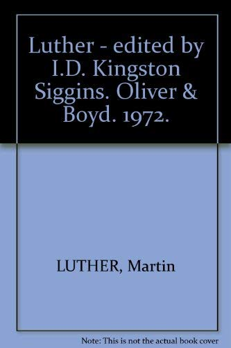 9780050025390: Luther; (Evidence and commentary)