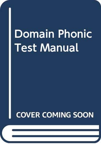 9780050025758: Domain Phonic Test Manual