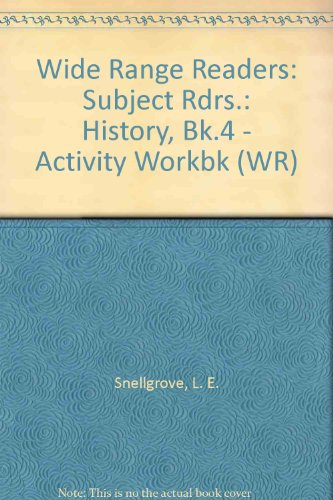 9780050033081: Wide Range Readers: Subject Rdrs.: History, Bk.4 - Activity Workbk (WR)