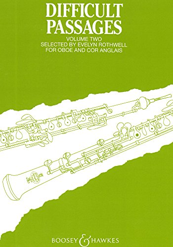 9780060022938: BOOSEY & HAWKES DIFFICULT PASSAGES VOL. 2 - OBOE Classical sheets Oboe