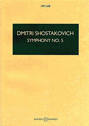 9780060024451: Symphony No. 5 op. 47 - Hawkes Pocket Scores HPS 628 - orchestra - study score