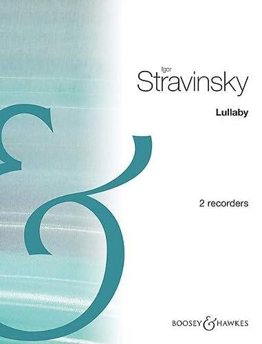 9780060026530: BOOSEY & HAWKES STRAWINSKY I. - THE RAKE'S PROGRESS (LULLABY) - 2 FLB SOPRANO Classical sheets Recorder