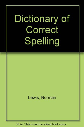 9780060033002: Dictionary of Correct Spelling