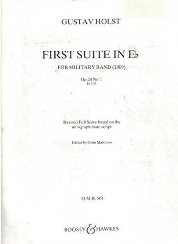 9780060052522: First Suite In Eb For Military Band, Op. 28, No. 1
