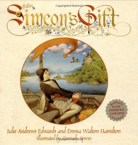 SIMEON'S GIFT (POSTER) BEAUTIFULLY SIGNED AT BOTTOM CORNER BY ILLUSTRATOR GENNADY SPIRIN
