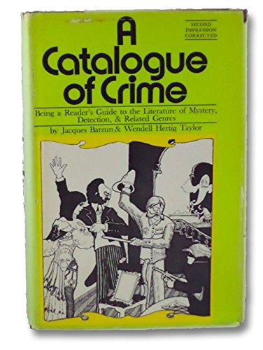 9780060102661: A catalogue of crime
