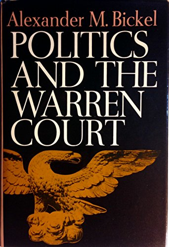 9780060103170: Politics and the Warren Court