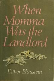 9780060103781: When momma was the landlord