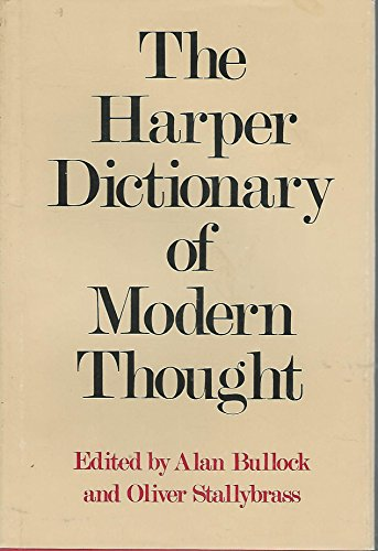 9780060105785: Harper Dictionary of Modern Thought