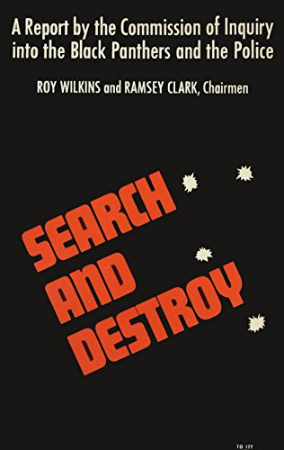 9780060108298: Search and Destroy; A Report by the Commission of Inquiry into the Black Panthers and the Police