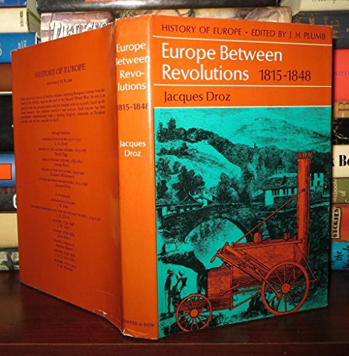 9780060110857: Europe Between Revolutions, 1815-1848