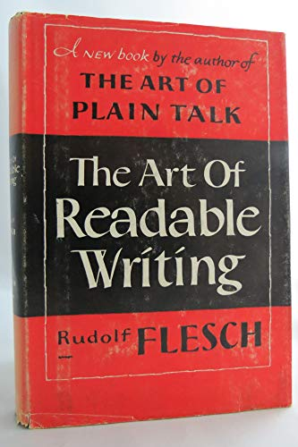 9780060112936: The Art of Readable Writing: With the Flesch Readability Formula