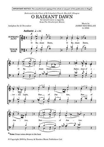 9780060120276: O Radiant Dawn - Mixed Choir a cappella [SATB] - PART
